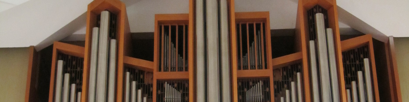 Organ recorders in a church.