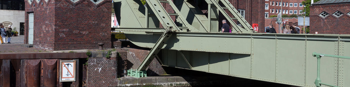 A historical folding bridge.