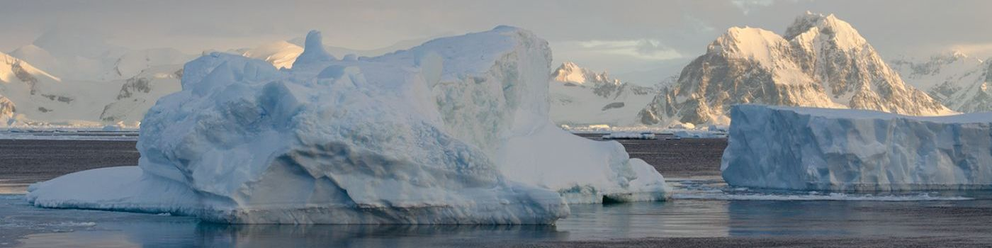 Ice floes in the Antarctic