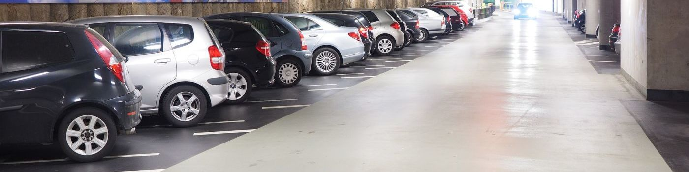 Parking cars in a car park.