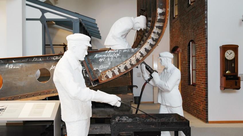 Arbeiter im Historischen Museums
