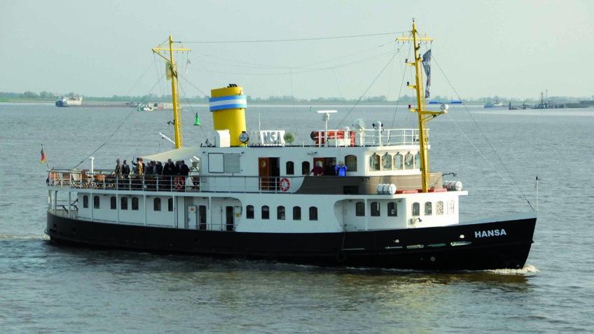 MS Hansa auf der Weser