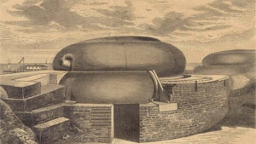 Drawing of a gun position.