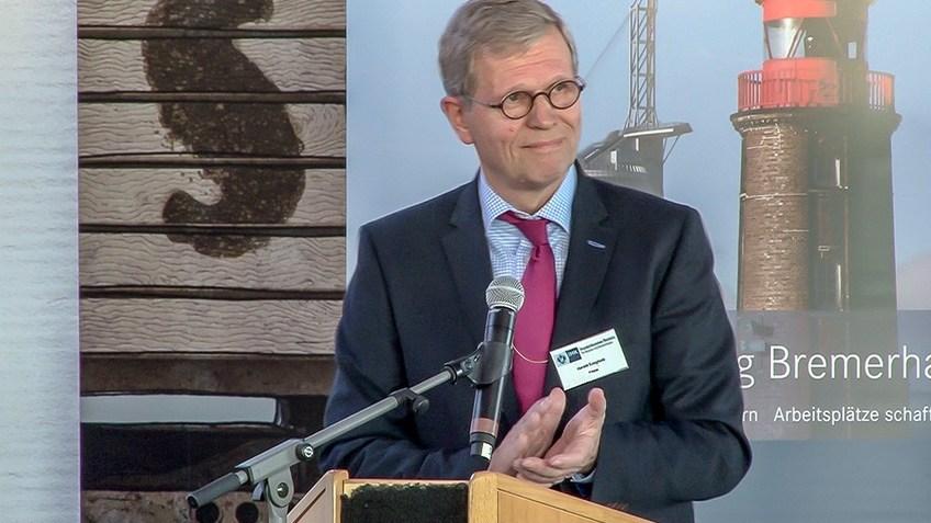 Der scheidende Präses Harald Emigholz beim Wirtschaftsdialog 2017