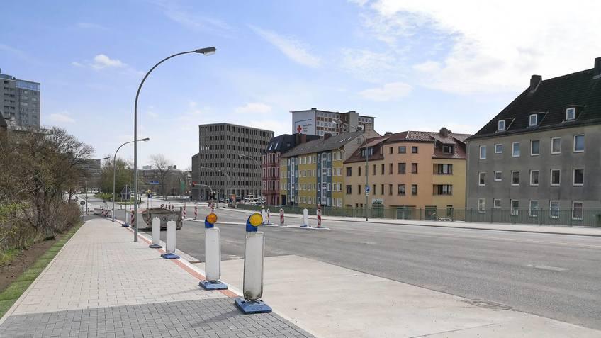 Kreuzung Borriesstraße und Columbusstraße