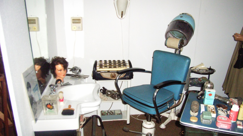 Additional components of a hair salon.