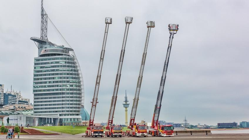 Viwer Leiterwagen der Feuerwehr