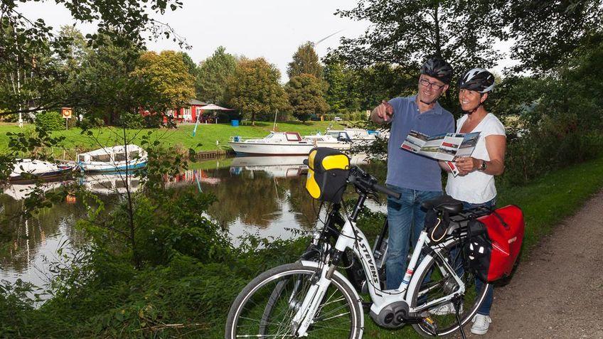 Radfahrer Fluss