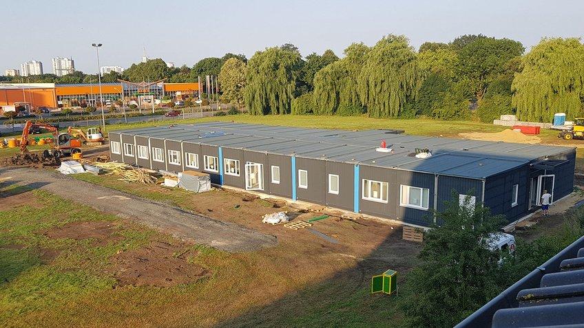 Bauphase der Grundschule auf dem Phillipsfield