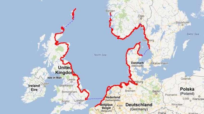 North Sea CoastCycle Route Bremerhavende