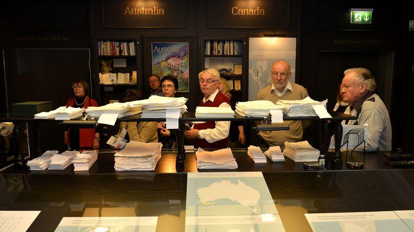 Besucher Akten Museum