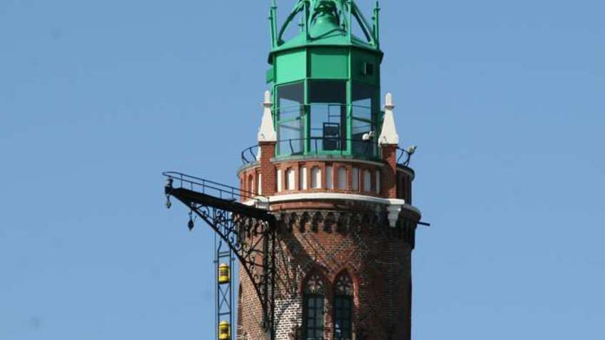 The top of a lighthouse.