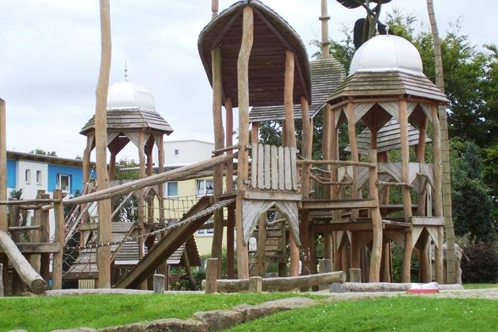 Klettergerüst Spielplatz : Spielplatz klettergerüst rutsche schaukel usw von wickey in