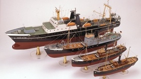Image of miniature ships.