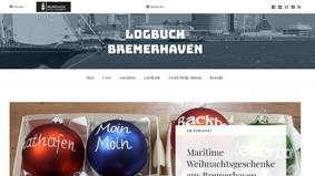 Screenshot des touristischen Blogs Bremerhavens