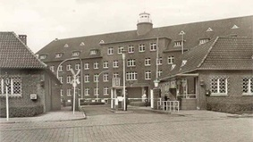 Historical image of a building.