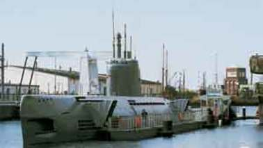 A submarine as a museum ship.